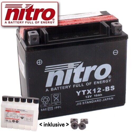 BATTERIA t100 TRIUMPH BONNEVILLE 865 anno 2015 NITRO ytx12-bs