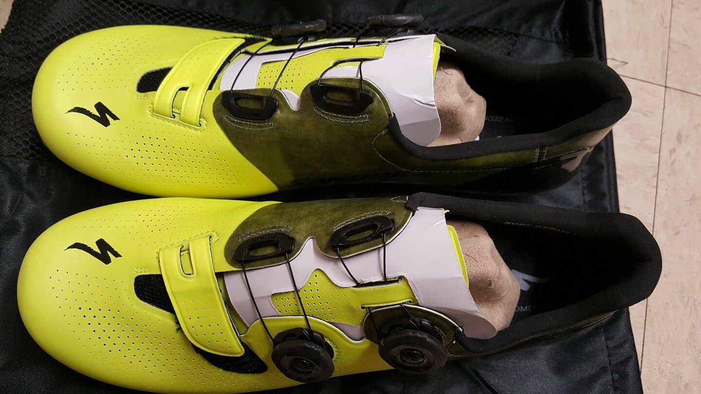 Specialized S-works S-works Specialized 6  road racing bike bicycle cycling Schuhe Neon Gelb 46 new dcacb3