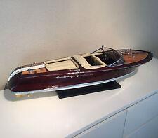 maquette bateau bois RIVA AQUARAMA lamborgini 67cm motorisable wooden model BOAT