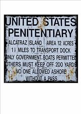 Signo de Alcatraz estilo Vintage Americano EE. UU. dados signo Alcatraz Prison signo