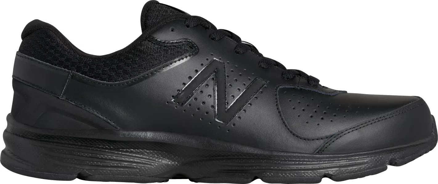 New Balance MW411BK2 Men's 411v2 Black Leather Cushioned Midsole Walking shoes