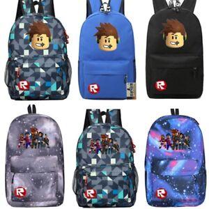 9de452e9db Image is loading Roblox-Backpack-Kids-School-Bag-Students-Boys-Bookbag-