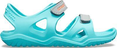 Crocs Girls Swiftwater River Sandals In Pool New Season