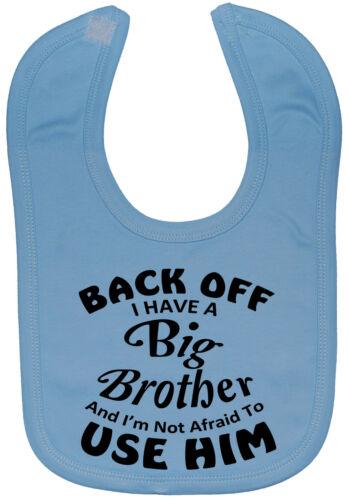 Back off Big Brother Baby Feeding Bib NB-3y environ Drôle Cadeau Garçon Fille Mignon