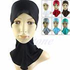 Hijab Under Scarf Cap Bone Bonnet Islamic Head Wear Band Neck Chest Cover Hat