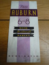 Rare AUBURN 6 AND 8 - WITH ARISTCRAT BODIES CAR BROCHURE 1934 jm