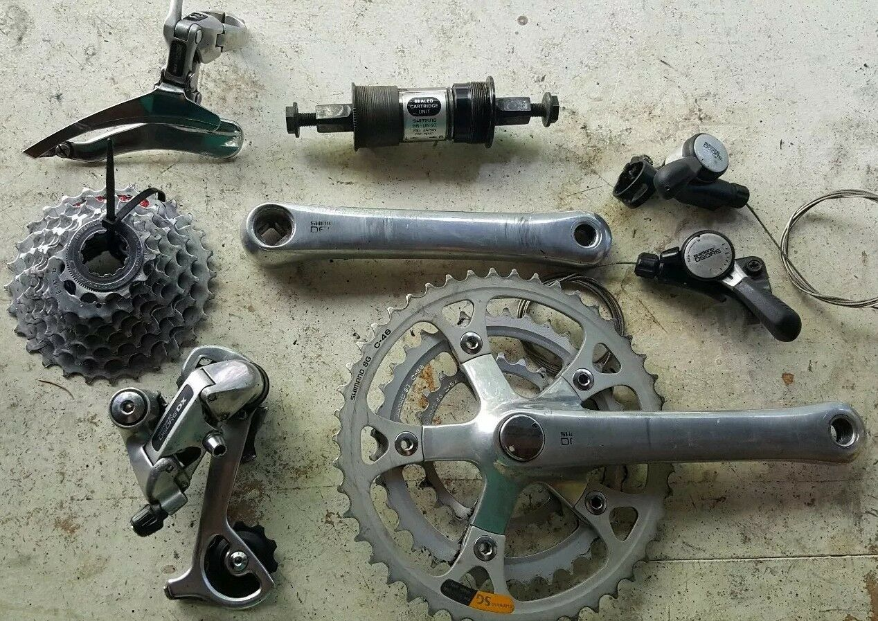 Vintage Shimano  Deore DX complete 3x7, 21 speed, Drivetrain Groupset circa 1993  cheaper prices