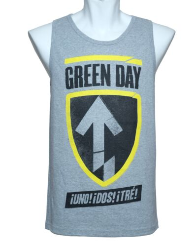 New M L XL UNO DOS TRE TANK TOP GREEN DAY OFFICIAL DISTRESSED SHIRT