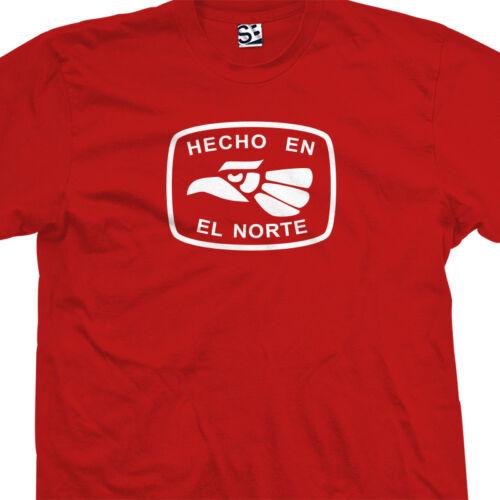 Funny Pocho Pocha Made in America USA Tee Hecho En El Norte T-Shirt