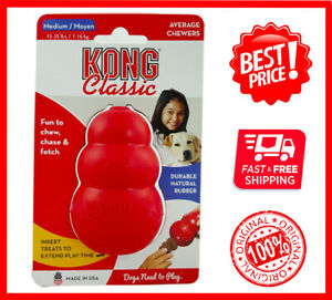 KONG-Classic-Dog-Toy-Durable-Natural-Rubber-Medium-FREE-SHIPPING