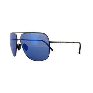 75b090b0b2 Porsche Design Sunglasses P8607 A V279 Black Dark Blue Mirror