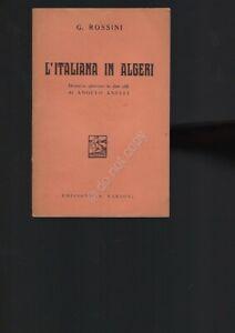 L' Italiana in Algeri Rossini Opera Lirica Libretto Edizioni Barion