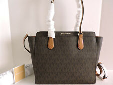 f2ce2059e27d Michael Kors Dee Large Signature Convertible Tote Brown for sale ...