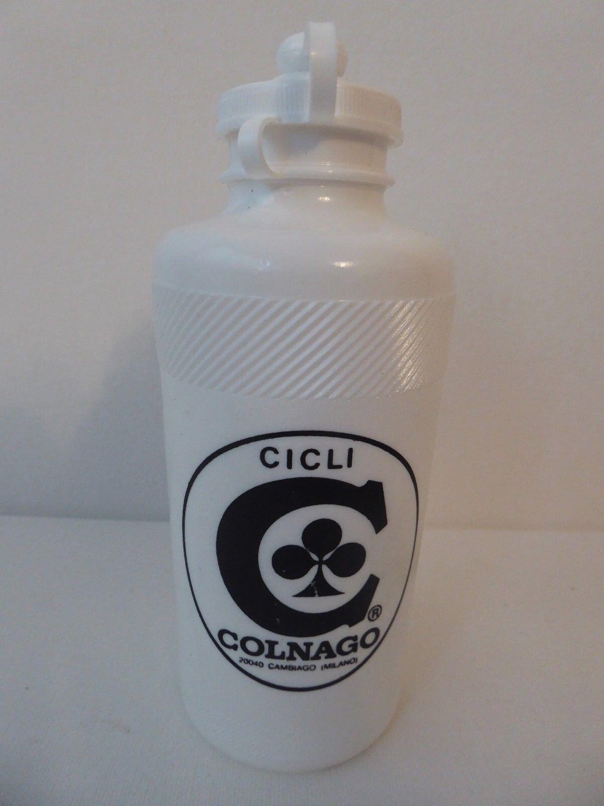 Vintage NOS blancoo Colnago Reg Botella de Agua BORRACCIA Cambiago, Milano Raro