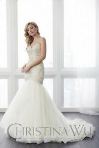 NWT-Mermaid-Ivory-Cafe-Size-16-Bridal-gown-Christina-Wu-15644-wedding-dress