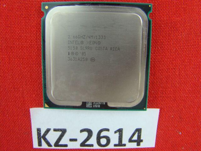Intel Xeon 5150 SL9RU 2.66ghz 2667MHz 1333mhz 4MB Zócalo 771 Dual Core #KZ-2614