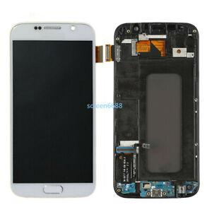 Pour Samsung Galaxy S6 G920F Complet LCD écran Verre Tactile+Cadre Blanc+Outils