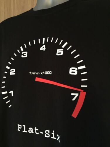 T Shirt FLAT SIX 6 design 911 964 993 996 997 986 987 Boxster