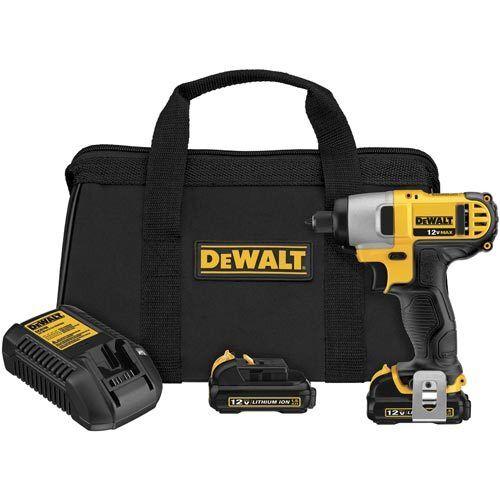 DeWALT DCF815S2 12V Max 1//4-Inch Cordless Impact Driver Tool Kit