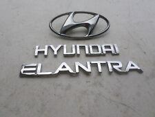 01-03 Hyundai Elantra Tailgate Emblem Logo Nameplate Decal Sticker Set of 3