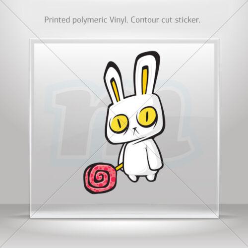 Sticker Decal Rabbit With Lollipop Car Atv Bike Garage bike st5 W939W
