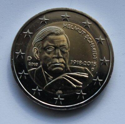 Different Mints *UNC Commemorative Coin HELMUT SCHMIDT GERMANY 2 Euro 2018