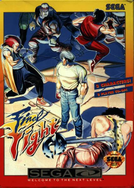 Final Fight CD Custom Reproduction Sega CD Game.