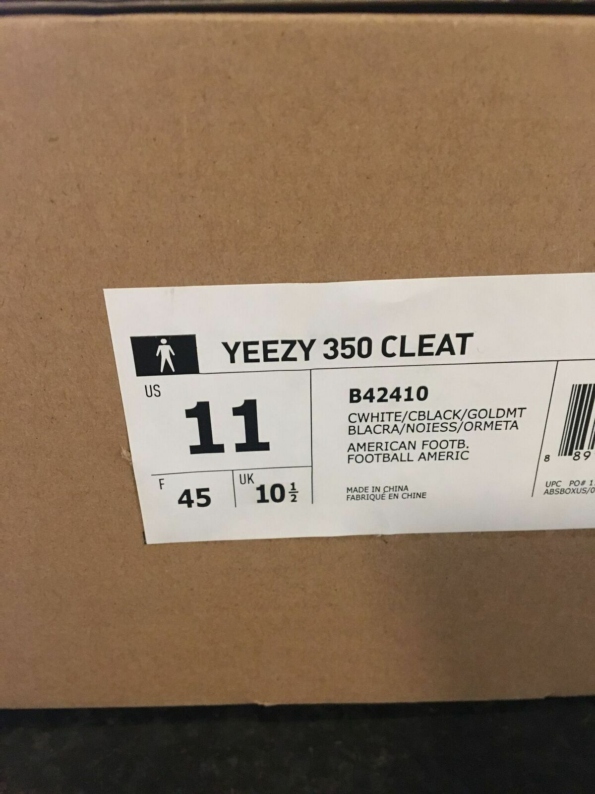 c9203ce6f adidas Yeezy 350 Cleat Turtle Kanye West Men Size 11 for sale online ...