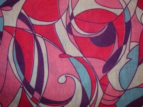 Pink Blue Art Deco Stain Glass Tubular Multi Function Head Wear Scarf Beanie Cap