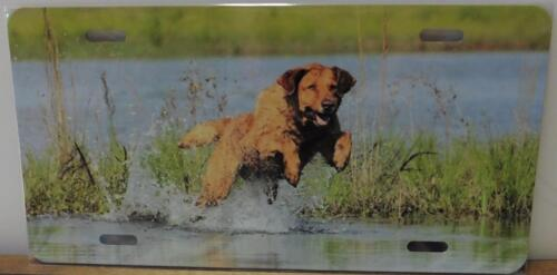 Yellow Lab Car Tag Color Metal License Plate,Hunter Gift