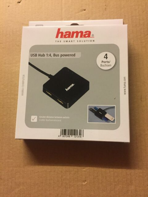 Hama | multiquad 1:4 bus powered Port USB 2.0 Hub | notebook/ordinateur PC/Macbook