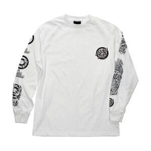 Santa-Cruz-Rob-Roskopp-EVOLUTION-LONG-SLEEVE-Skateboard-Shirt-WHITE-XL