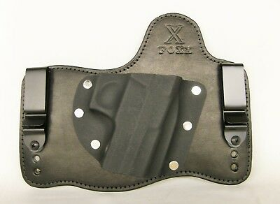 Black Right FoxX Holsters Leather /& Kydex OWB Hybrid Holster Pick Your Gun