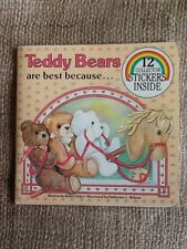 Teddy Bears Are Best Because...12 Collector Stickers 1983 Soft Cover