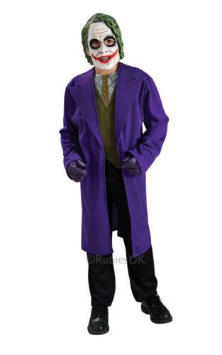 FANCY DRESS COSTUME ~ BOYS DARK KNIGHT THE JOKER M 5-7