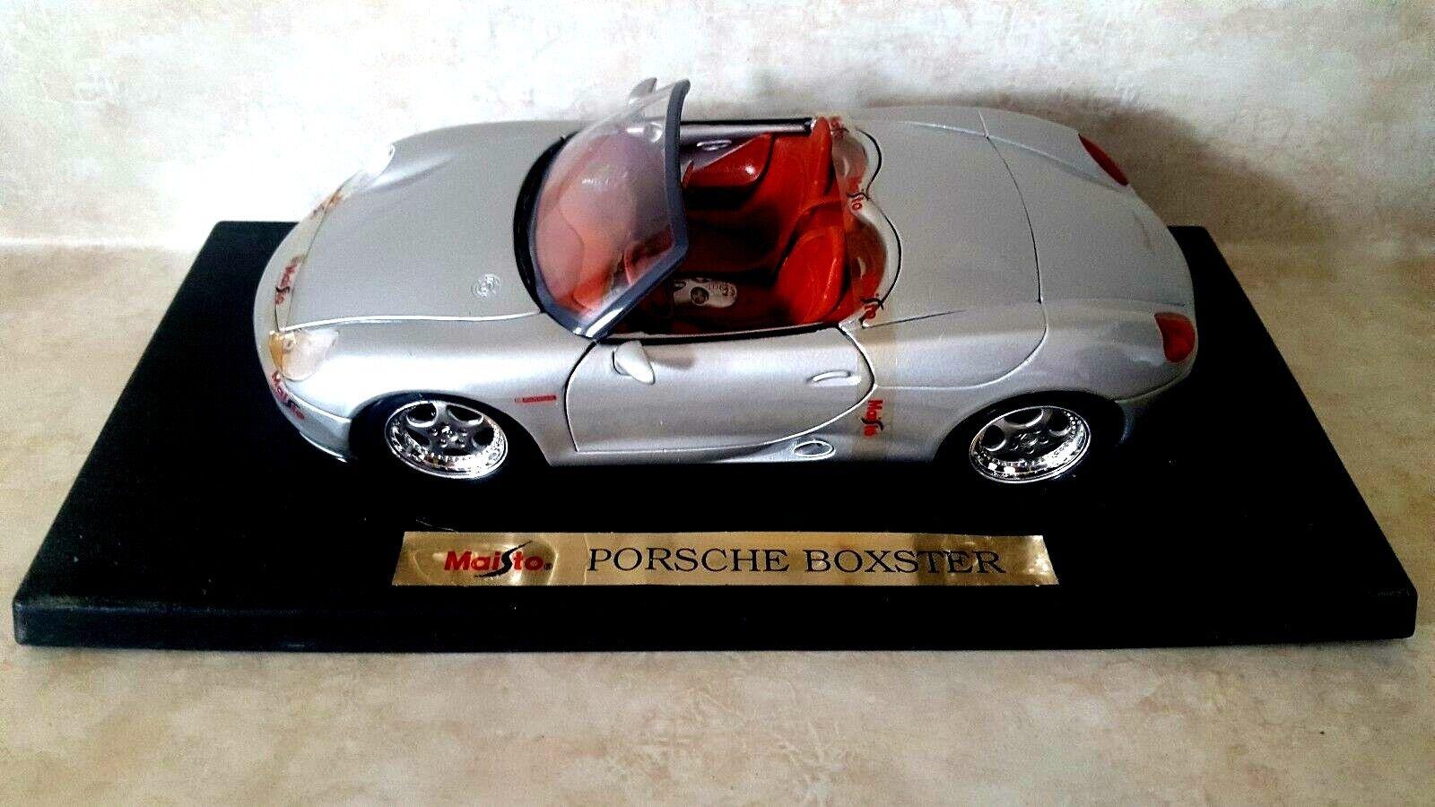 Maisto 1 18 Diecast Porsche Boxster Converdeible De argento 31814 con caja limitada