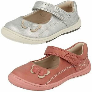 fd3f438fecf33 Girls Clarks Softly Wow Fst Vintage Pink Or Silver Leather First ...