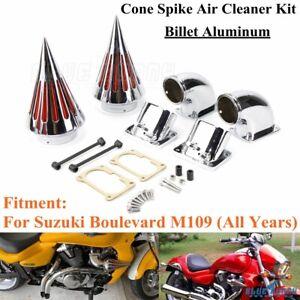 Billet-Aluminum-Spike-Air-Cleaner-Intake-Filter-Kits-For-Suzuki-Boulevard-M109