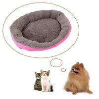 Pet Dog Nest Puppy Cozy Cat Soft Bed Fleece Kennel Plush Mat Coffee Warm House K