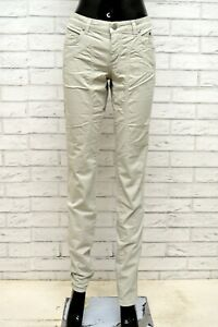Pantalone-JECKERSON-Donna-Taglia-Size-32-Jeans-Pants-Woman-Cotone-Regular-Grigio