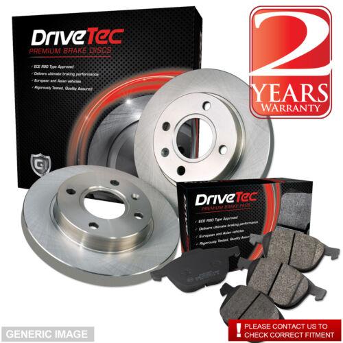 Seat Altea 04-13 1.9 TDI MPV 104 Rear Brake Pads Discs 255mm Solid