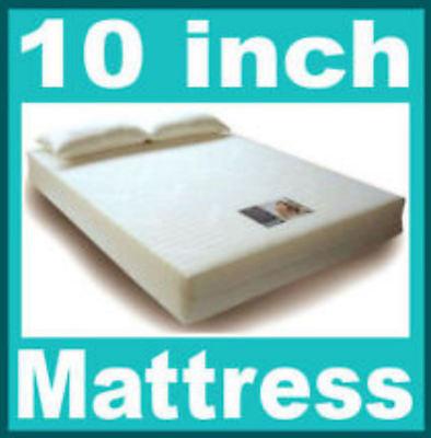10 inch Superking 6ft bed size Visco Elastic Memory Foam Mattress Free Pillows