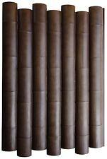 Steinpaneele   3D Wandpaneele   Wandverkleidung   Holzoptik   Bambus braun