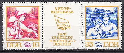 Ddr 1972 Mi 1761-1762 Dreiersterfen Postfrisch ** Mnh Geschickte Herstellung Nr