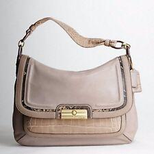 COACH KRISTIN SPECTATOR LEATHER FLAP Pink Grey Animal Gold Shoulder Bag 16789