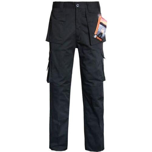 Cargo Combat Workwear Pantaloni Knee Pad Tasche Meccanico Lavoro Pantaloni