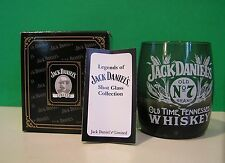 JACK DANIELS CORN SHOT GLASS smoked glass NEW in BOX with COA Daniel's