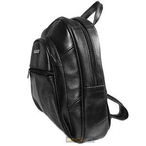 b4edd5f59 Image is loading Ladies-Women-Leather-Small-Soft-Lorenz-backpack-Rucksack-