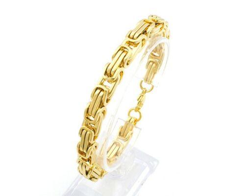 Punk Jewelry Stainless Steel Byzantine Link Men/'s Necklace and Bracelet Set