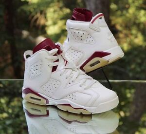 d858d0693711 Air Jordan 6 VI Retro OG BG Off White Maroon 836342-115 Size 6.5Y ...